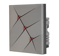 interruptores de onda z al por mayor-Al por mayor-Gratis 3 botones de control inteligente panel de interruptores interruptor Z-WAVE Touch, 868.42MHz para UE, 908.42MHz para panel de botones US 3