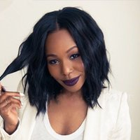 Wholesale Black Hair Weave Hairstyles - Glueless Front Lace Wig Human Hair Weave Wigs Brazilian Human Hair Silk Base Bob Wig For Black Women Short Bob Full Lace Wigs