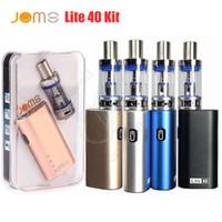 ar baterias venda por atacado-Jomo Lite 40 Kit Starter vape kits JomoTech 40w box mod mini bulit-em 2200mAh kits de vaporizador de bateria 3ml Lite Tanque de fluxo de ar e cigs vapores DHL