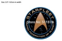 """Wholesale Show Costumes - 3.5"""" Star Trek Beyond Movie TV Show Series Costume Embroidered iron on sew On patch Tshirt TRANSFER MOTIF APPLIQUE"""