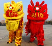 Wholesale Folk Star - OISK quality children new Lion Dance mascot Costume made of pure wool Southern Lion Adult size chinese Folk costume