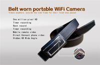 Wholesale High Resolution Mini Cctv Camera - WiFi 720P Leather Belt Video Camera Wide Angle High Resolution Hidden Surveillance Security Cam CCTV Nanny Home Micro Mini Hidden Nanny Cam