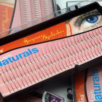 Wholesale Eyelashes Knot - Wholesale- NAVINA 102 Strips 3D Individual False Eyelash Fake Eyelashes Extension Strips 8mm 10mm 12mm Non Knot NAVINA D-Lash 0.12mm W Lash