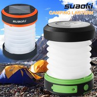 Wholesale Flashlight Neon Light - Suaoki Camping LED Lantern USB&Solar Rechargeable Collapsible Light Mini Flashlight Torch Light Waterproof Lantern for Camping
