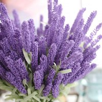 Wholesale lavender artificial flower - 12 Heads Bouquet Foam Flower Colorful Artificial Lavender Flower Wedding Decoration Home Party Decor Fake Artificial Flower