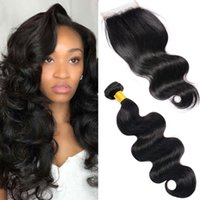 Body Wave Hair Weaves With Closure Indien Malaysian Brazilian peru Wet and Onavy Cheveux Naturel Noir Cheap Human Hair Weave For Wholesale