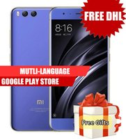 Wholesale Dual Sim Android Os - Dhl Free Original Xiaomi Mi6 128GB ROM 6GB RAM Snapdragon 835 Octa Core 5.15'' NFC 1920x1080 Dual Cameras Android 7.1 OS