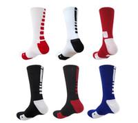 Wholesale American Color Socks - American elite basketball socks fashion 6 color sports socks polyester elastic breathable basketball soccer socks