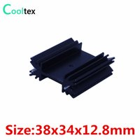 Wholesale Wholesale Integrated Circuits - Wholesale- 5pcs lot 38x34x12.8mm TO220 TO-220 heatsink heat sink radiator for IC triode 7805 MOS Diode Dynatron integrated circuit cooling