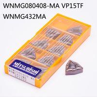 Wholesale Grooving Insert - Mitsubishi 10PCS   Lot WNMG080408 MA VP15TF WNMG432MA Sclcr Lathe Tools Hard Alloy OEM Parting Grooving Milling Insert ZCC.CT Slitting
