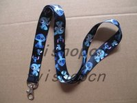 Wholesale Stainless Steel Neck Chains - Free Shipping Wholesale 10 pcs Cartoon Stitch key Chain Neck Strap Keys Camera ID Card Lanyard Mobile Phone Neck Straps D--5