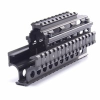 Wholesale Picatinny Rail Mount Handguard - Yugo M70 AK Quad Rail Drop-in Handguard Four Picatinny Rails For Laser Dot Sights Riflescope Mount V-cut Co-witness with Iron Sights MTU011