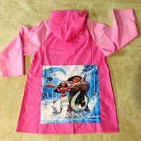 Wholesale Gear Rain Coat - 9 styles Moana Mickey Minnie Anna Elsa Princess Raincoat Children Rain Gear Pikachu Rain suit Waterproof Cartoon Rain coat C2600