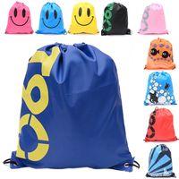 Wholesale Cartoon Girl Swimming - Large Shoulder Backpack Drawstring Sliced Garment Waterproof storage Bag Beach Swimming Bunched Bag Emoji Drawstring Bags z033 Bag