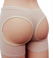 Wholesale Toning Pants - EuropeStyle net yarn sexy toning carry buttock pants wommen's shapewear exposed buttocks black Khaki 2 colors boxers underpants B46600