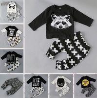 Wholesale Girls Tops Leggings - Baby Boys Clothing Sets Baby Girls Boys Fox Cotton Tops T-shirt+Pants Leggings 2pcs Outfits Set Costume