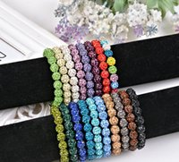 Wholesale ordering silicone beads for sale - Group buy Good A Fashion crystal diamond ball bracelet beads diy handmade jewelry FB292 mix order pieces a Charm Bracelets