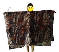 Wholesale Hunting Poncho Rain - 3in1 Outdoor Military Camouflage Raincoat Rainwear Poncho Backpack Rain Cover Waterproof Mat Awning Hunting Camping Hike mats