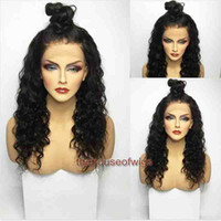Wholesale Malaysian Virgin Curly Bleached Knot - 9A Kinky curly Full Lace Wigs Pre Plucked Natural Hairline Deep Wave Brazilian Virgin Human Hair Lace Front Wigs With Bleached knots
