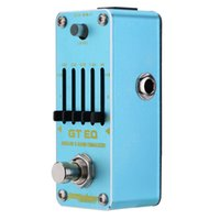 Wholesale Eq Effect Pedal - AROMA AEG-3 GT EQ Analog 5-Band Equalizer Electric Guitar Effect Pedal Mini Single Effect with True Bypass Guitarra Effect Pedal