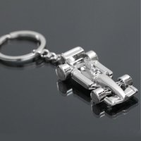 Birthday Silver Party Favor 3D F1 Formula One Race Racing Car Model Pendant Zinc Alloy Shining KeyRing KeyChain Gift Party Flavor Charm Bag Holder ZA2842