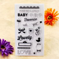Wholesale girl scrapbooks - Wholesale- BABY Lovely LOVE cute girl Scrapbook DIY photo cards account rubber stamp clear stamp transparent stamp 11x20cm KW6112433