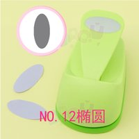 Art oval paper punch - inch oval punch Crafts Scrapbooking Tool Paper Punch For Photo Gallery DIY Gift Card Punches Embossing device Stamping