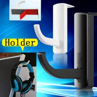 Wholesale Wholesale Cheap Hangers - Wholesale- Cheap Sale Headphone Headset Holder Hanger Wall PC Monitor Stand Accessory Bundles for Earphone Holder