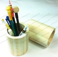 Wholesale Wooden Craft Ships - Wooden Crafts Pen Case Brush Pot Mud Art Toys Pencil Desktop Storage Decor free shipping MYY