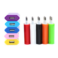 Wholesale Iphone Wall Charger Colorful - 5V 1000mah Colorful EU US Plug USB Wall Charger AC Power Adapter Home Charger for iphone 7 Plus 6 6S 5S