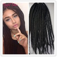 Wholesale Heat Resistant Synthetic Hair Extension - 3s box braids grey hair extensions 100g heat resistant synthetic Crotchet box braids crochet hair extension synthetic braiding hair