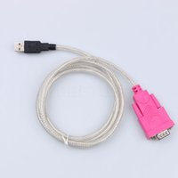 Wholesale Usb Modem Adapter - 1pcs USB to Rs232 Female cable adapter serial port holes 9 holes COM Computer cable For PDA Modem Phone GPS support windows