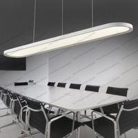 Wholesale Wholesale Ceiling Fans Lights - Modern LED Acrylic Restaurant Chandelier Ellipse Shape Design Office Ceiling Fan Bar Study Lamp Import LED Patch Ceiling Light MYY