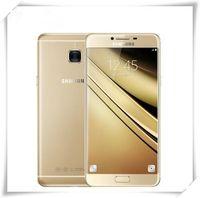 16mp kamera akıllı telefonlar toptan satış-Orijinal Samsung Galaxy C7 cep telefonu Android6.0 4GB RAM 32/64 GB ROM 16MP Kamera 5.7 inç Akıllı Cep Telefonu yenilenmiş