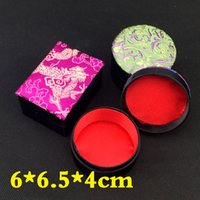 Wholesale Handicraft Cloth - Handicraft Floral Small Jewelry Gift Box Cloth Packaging Silk Brocade Cardboard Necklace Ring Earring Stud Storage Case 10pcs lot