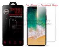 Wholesale Screen Protector Film Ace - ACE 100 Pcs For Iphone X 8 Iphone 7 J7 Prime Tempered Glass Screen Protectors Edition 2.5D Explosion Shatter Screen Protector Film In box