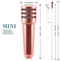Wholesale Record Free Music - Mini Professional Retro Condenser microphones karaoke system High Fidelity Noise Free For Mobile For Karaoke Podcast Music Record Livestream