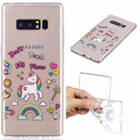 Wholesale S4 Mini Protection - Crystal Transparent Soft TPU Case 360 Degree Protection 12 Lovely Designs for Samsung Galaxy S8 S8 plus Note 8 A3 A5 S5 mini S4 mini