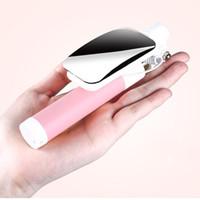 ayna monopodu toptan satış-IPhone ve Android için Mini Kablolu Ayna Özçekim Sopa Monopod Özçekim Ön / Arka Kamera Palo 1 adet HKPost Tarafından Ücretsiz Kargo