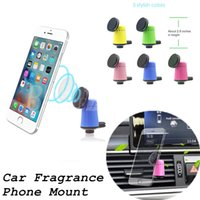 Wholesale Auto Car Holder Phone - Fragrant Car Holder Perfume Magnetic Mobile Phone Holder Stand Auto Air Vent Mount Aroma Magnet Bracket For iPhone 7 6 Samsung