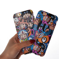 Wholesale Iphone Carton Cases - Ultrathin Carton TPU Mermaid Full Degree Protect Monk Girl Case Cover For iphone 6s 6 plus Opp Bag