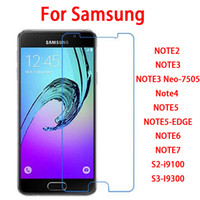 Wholesale Note3 Screen Protector - 9H 2.5D 0.26mm Tempered glass screen protector film for Samsung NOTE2 NOTE3 NOTE3 Neo-7505 Note4 NOTE5 NOTE5-EDGE NOTE6 NOTE7 S2-i9100 S3-I9