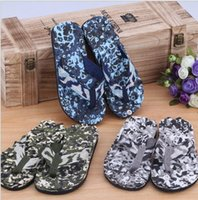 Wholesale Army Green Camouflage Sandals - slippers summer 2017 man camouflage shoes bubble fabric EVA brand flip flops beach men sole casual shoes flats sandals