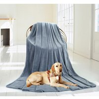 Wholesale Kennel Blanket - DHL Free Breathable 70x100cm Solid Large Pets Kennel Mat Paw Soft Warm Fleece Pet Blanket 220gsm Dog Cat Mat 11 Color Puppy Sleep Bed Sofa