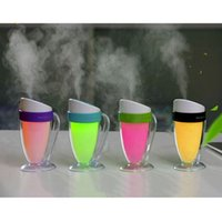 Wholesale Mini Cool Mist Humidifiers - 110ml Cool Mist Humidifier Mini Travel USB Air Humidifier Purifier for Car Office Baby Room