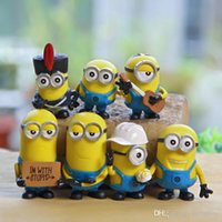 Wholesale Wholesale Plush Minions - 7PCS Set New Arrival Me 3 Minions in Action Figures Minions Toys Doll New cheap Toy Lovely Plush Toys