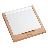 Wholesale Dustproof Wireless Keyboard - Samdi Classic Bamboo Wireless Bluetooth Touchpad Dock Vogue Rack Holder Stand Bracket for Apple Macbook Magic Trackpad
