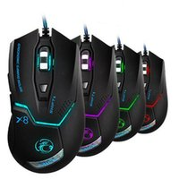 iMice Ergonômico Wired Gaming Mouse USB Optical Gamer Mouse Profissional 3200DPI 6 Botões Computer Game Mouse Mice Para PC Dota 2