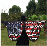Wholesale Animal Pashmina - Butterfly Wing Pashmina Women Scarves Fashion Beach Towel Butterfly Print Mat Beach Scarves Wraps Costume Accessory 147*70cm Free Shipping