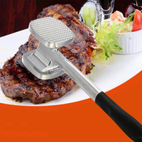 Wholesale mallet hammer - New Arrival Exquisite Simple Meat Mallet Tenderizer Steak Beef Chicken hammer Kitchen Tool Aluminium Metal Useful and Easy